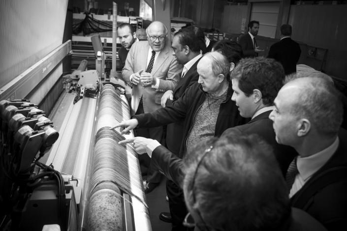 Visita Brioni al lanificio Piacenza